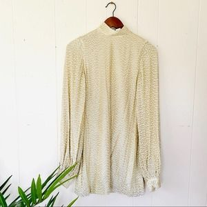 Alexis alyna gold sequin mock neck dress NWT
